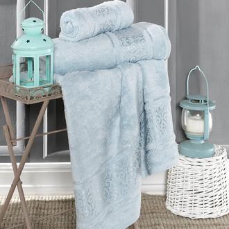 Полотенце для ванной Karna ARMOND бамбуковая махра (ментол)