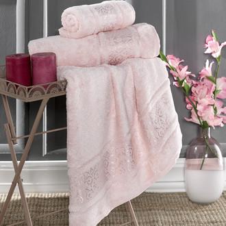 Полотенце для ванной Karna ARMOND бамбуковая махра пудра