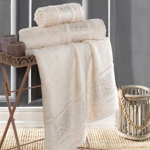 Полотенце для ванной Karna ARMOND бамбуковая махра бежевый 50х90