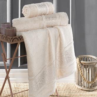 Полотенце для ванной Karna ARMOND бамбуковая махра бежевый