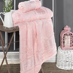 Полотенце для ванной Karna ARMOND бамбуковая махра розовый 70х140