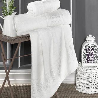 Полотенце для ванной Karna ARMOND бамбуковая махра кремовый