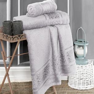 Полотенце для ванной Karna ARMOND бамбуковая махра серый 50х90