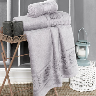 Полотенце для ванной Karna ARMOND бамбуковая махра (серый)