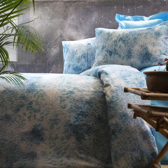 Комплект постельного белья Issimo Home SATIN BELIZE хлопковый сатин делюкс бирюзовый