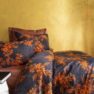 Комплект постельного белья Issimo Home SATIN GLENDA хлопковый сатин делюкс терракотовый