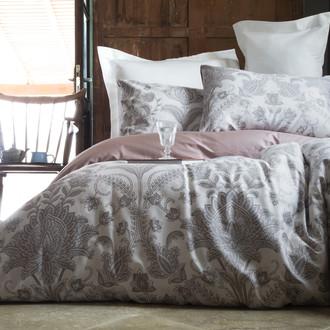 Комплект постельного белья Issimo Home SATIN CHAMBOARD хлопковый сатин делюкс (кремовый, пудра)