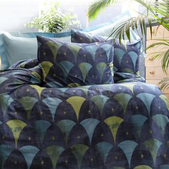 Комплект постельного белья Issimo Home SATIN GOLDEN STAMP хлопковый сатин делюкс (синий, голубой)