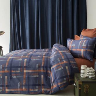 Комплект постельного белья Issimo Home SATIN KARLIS хлопковый сатин делюкс кирпичный