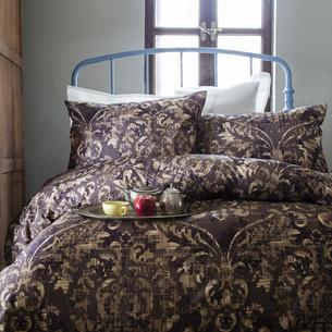 Постельное белье Issimo Home RANFORCE TERRA хлопковый ранфорс коричневый евро