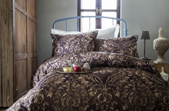 Комплект постельного белья Issimo Home RANFORCE TERRA хлопковый ранфорс (коричневый) евро, фото, фотография