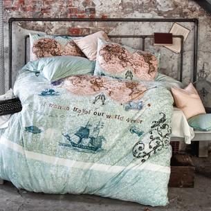Комплект подросткового постельного белья Issimo Home RANFORCE WORLD TRAVEL хлопковый ранфорс 1,5 спальный