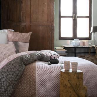 Комплект постельного белья Issimo Home RANFORCE FREY хлопковый ранфорс пудра