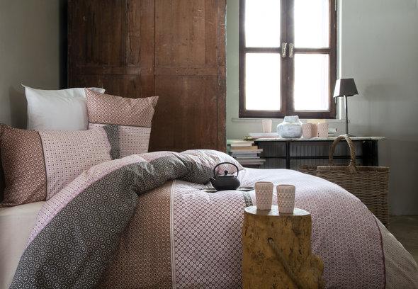 Комплект постельного белья Issimo Home RANFORCE FREY хлопковый ранфорс (пудра) 1,5 спальный, фото, фотография