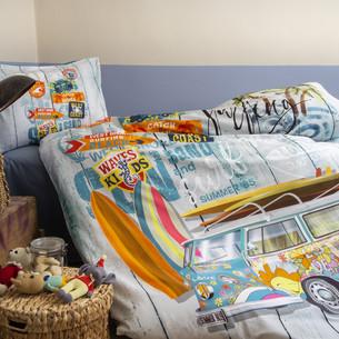 Комплект подросткового постельного белья Issimo Home RANFORCE PEACE хлопковый ранфорс бирюзовый 1,5 спальный