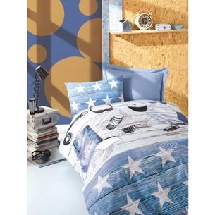 Постельное белье детское Cotton Box MODUS хлопковый ранфорс голубой 1,5 спальный