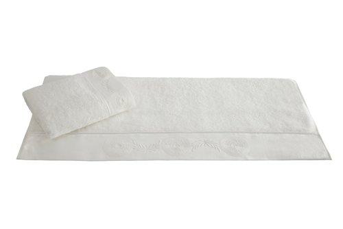 Халат с полотенцами Soft Cotton QUEEN хлопковая махра кремовый M, фото, фотография