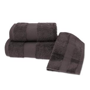 Набор полотенец для ванной в подарочной упаковке 32х50, 50х100, 75х150 Soft Cotton DELUXE хлопковая махра коричневый