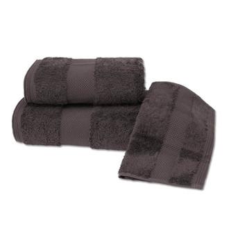 Набор полотенец для ванной в подарочной упаковке 32*50, 50*100, 75*150 Soft Cotton DELUXE хлопковая махра коричневый