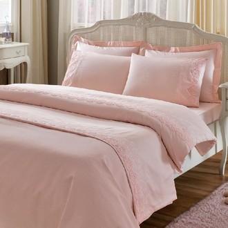 Постельное белье Tivolyo Home NOVA CIFT хлопковый сатин (розовый)
