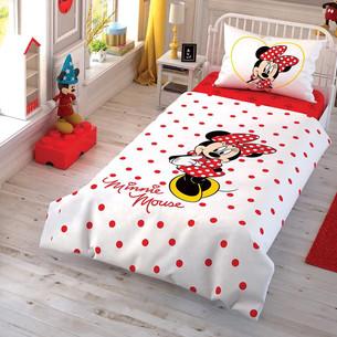 Детское постельное белье TAC MINNIE CEK хлопковый ранфорс 1,5 спальный