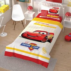 Детское постельное белье TAC CARS CEK хлопковый ранфорс 1,5 спальный