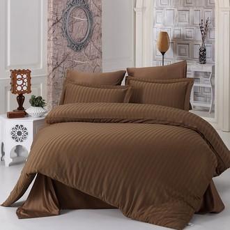 Постельное белье Karna PERLA бамбуковый сатин коричневый