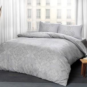 Постельное белье TAC HAPPY DAYS MIRABEL хлопковый ранфорс серый 1,5 спальный