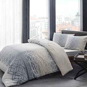Комплект подросткового постельного белья TAC PLAY хлопковый ранфорс серый 1,5 спальный