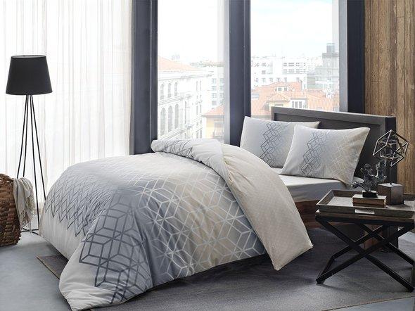 Комплект подросткового постельного белья TAC PLAY хлопковый ранфорс (серый) евро, фото, фотография