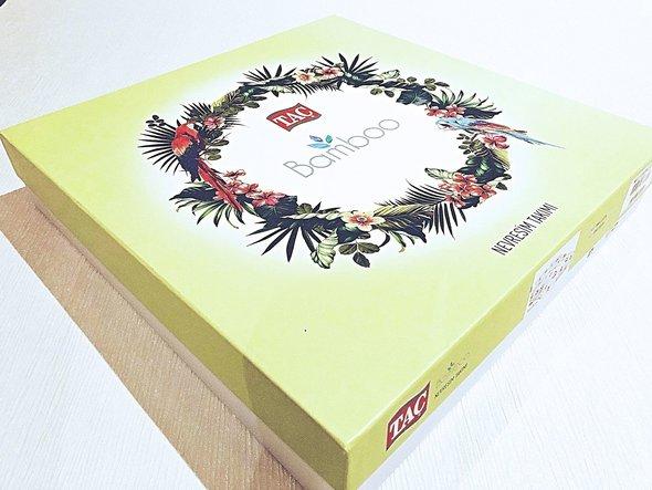 Постельное белье TAC BAMBOO GLADA бамбуковый сатин делюкс бежевый евро, фото, фотография