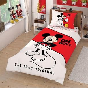 Детское постельное белье TAC MICKEY CEK хлопковый ранфорс 1,5 спальный