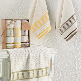 Подарочный набор кухонных полотенец Karna PINEAPPLE хлопковая махра