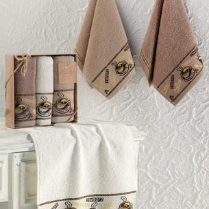 Подарочный набор кухонных полотенец Karna COFFEE CUP хлопковая махра