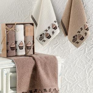 Подарочный набор кухонных полотенец Karna CUPCAKE хлопковая махра