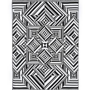Плед Begonville BLACK & WHITE хлопок mirrors 150х200