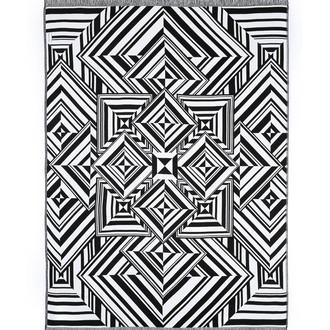 Плед Begonville BLACK & WHITE хлопок (mirrors)