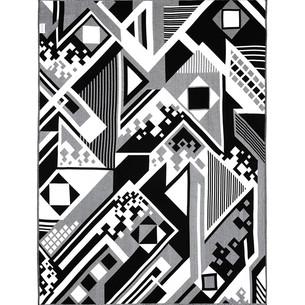 Плед Begonville BLACK & WHITE хлопок discord 150х200