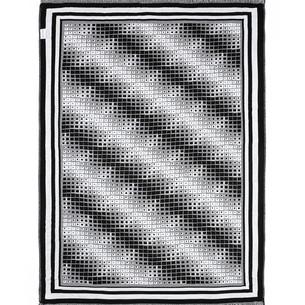 Плед Begonville BLACK & WHITE хлопок moire 150х200