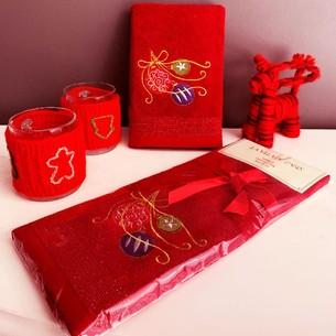 Полотенце-салфетка La Villa YILBASI SUSU хлопковая махра бордовый 45х70