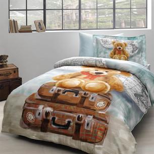 Детское постельное белье Tivolyo Home MASHA хлопковый сатин делюкс 1,5 спальный