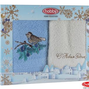 Подарочный набор полотенец-салфеток 30х50 2 шт. Hobby Home Collection НОВОГОДНИЙ хлопковая махра A1