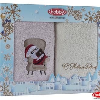 Подарочный набор полотенец-салфеток 30х50 2 шт. Hobby Home Collection НОВОГОДНИЙ хлопковая махра A11