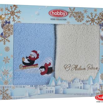 Подарочный набор полотенец-салфеток 30*50 2 шт. Hobby Home Collection НОВОГОДНИЙ хлопковая махра A13