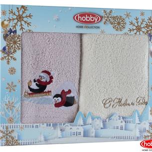 Подарочный набор полотенец-салфеток 30х50 2 шт. Hobby Home Collection НОВОГОДНИЙ хлопковая махра A14