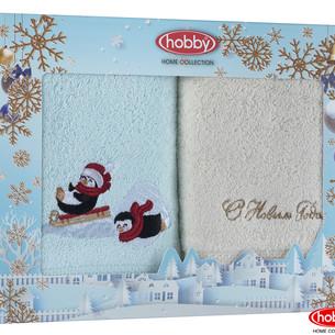 Подарочный набор полотенец-салфеток 30х50 2 шт. Hobby Home Collection НОВОГОДНИЙ хлопковая махра A15