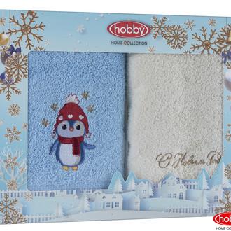 Подарочный набор полотенец-салфеток 30*50 2 шт. Hobby Home Collection НОВОГОДНИЙ хлопковая махра A4