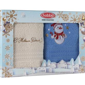 Подарочный набор полотенец-салфеток 30х50 2 шт. Hobby Home Collection НОВОГОДНИЙ хлопковая махра A7