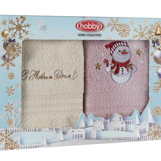 Подарочный набор полотенец-салфеток 30*50 2 шт. Hobby Home Collection НОВОГОДНИЙ хлопковая махра A8