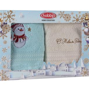 Подарочный набор полотенец-салфеток 30х50 2 шт. Hobby Home Collection НОВОГОДНИЙ хлопковая махра A9